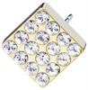 Golden Brilliance Square Crystal 8mm